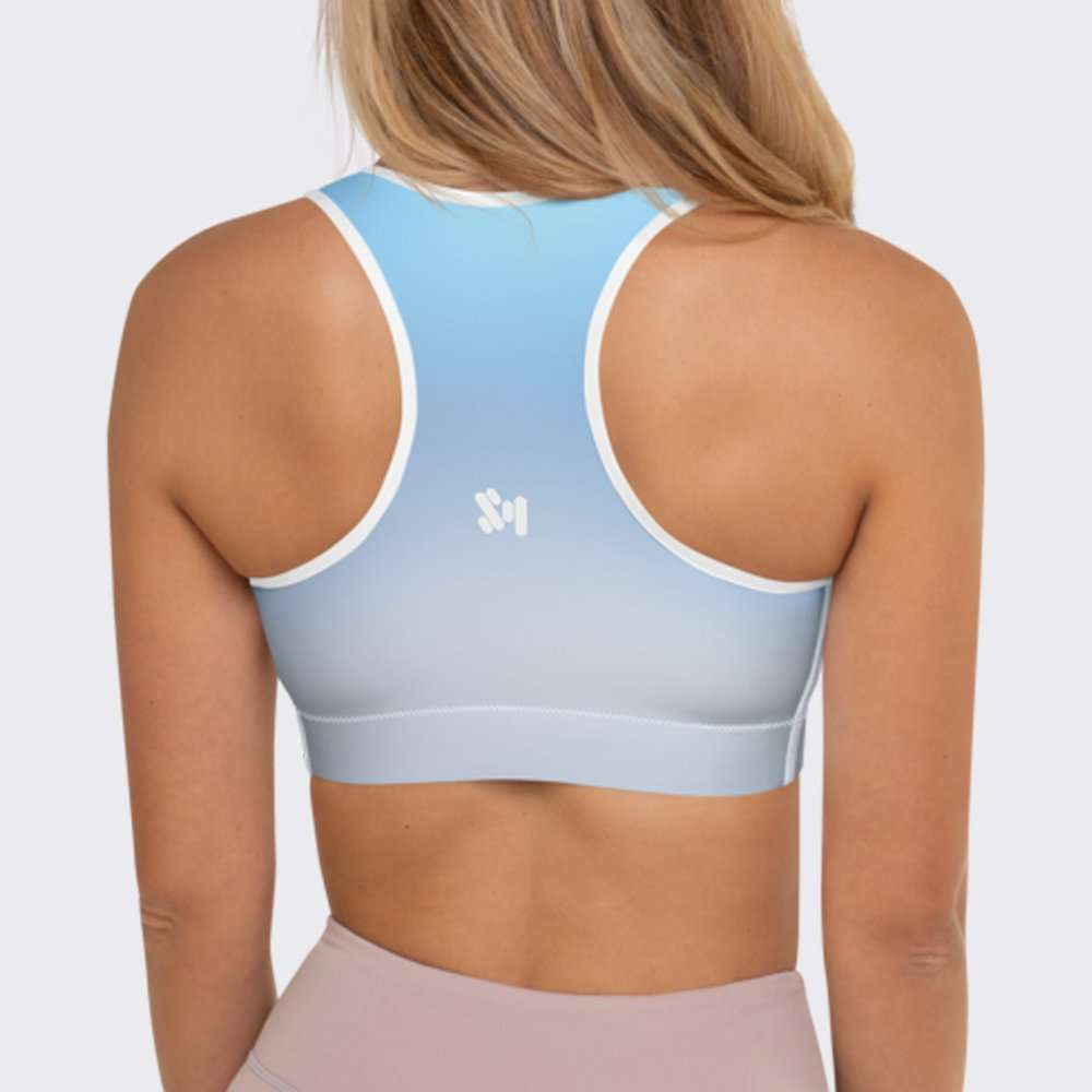 Blue Journal Sports Bra by Sania Marie