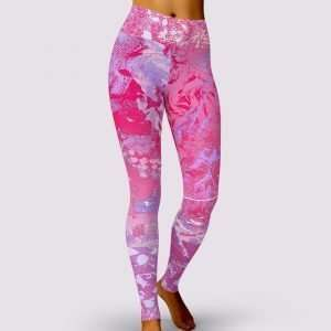 Pink Bubble Gum Leggings by Sania Marie